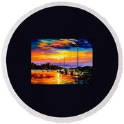 Sicily - Messina Round Beach Towel