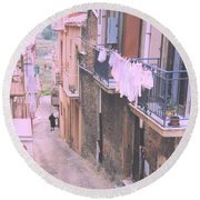 Sicily Round Beach Towel