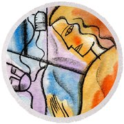 Sickness And Healing Round Beach Towel