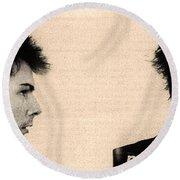 Sid Vicious Mugshot Round Beach Towel by Bill Cannon