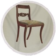 Side Chair Round Beach Towel