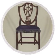 Side Chair (one Of Six) Round Beach Towel
