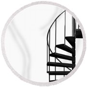 Side Entrance Round Beach Towel by Evelina Kremsdorf