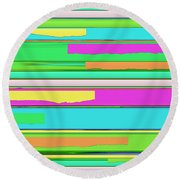Side Streets 2 Round Beach Towel