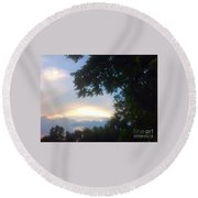 Side Ways Glance Of Nature Round Beach Towel