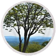 Sideling Hill Lookout  Round Beach Towel