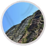 Sideling Hill Rock Round Beach Towel