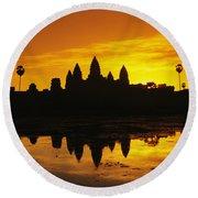Siem Reap, Angkor Wat Round Beach Towel