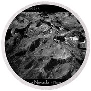 Sierra Nevada's Planer Earth Bw Round Beach Towel
