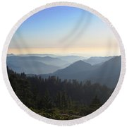 View From Beetle Rock Round Beach Towel