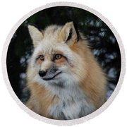 Sierra's Profile Round Beach Towel