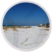 Siesta Key Beach Round Beach Towel
