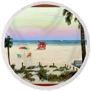 Siesta Key Beach Morning Round Beach Towel