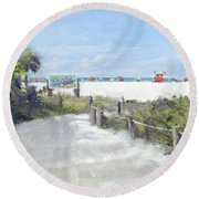 Siesta Key Public Beach Access Round Beach Towel