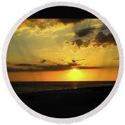 Siesta Sundown Round Beach Towel
