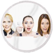 Sign Of Business Innovation And Business Success Round Beach Towel