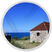 Signal House Radio Station Round Beach Towel