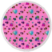 Signs Of Summer Round Beach Towel