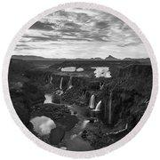 Sigoldufoss Waterfalls Iceland 1291 Round Beach Towel