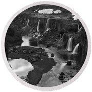 Sigoldufoss Waterfalls Iceland 1294 Round Beach Towel