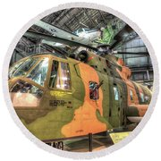 Sikorsky Hh-3 Jolly Green Giant Round Beach Towel