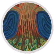 Silence Of Night Round Beach Towel