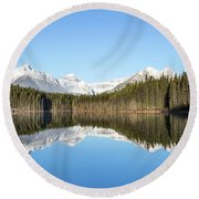 Silence Of North Round Beach Towel