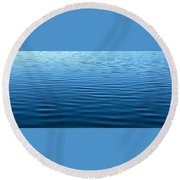 Silent Blue Tranquility Round Beach Towel