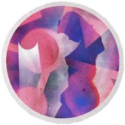 Silent Contemplation 2 Round Beach Towel