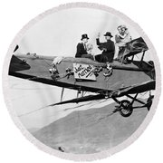 Silent Film Still: Stunts Round Beach Towel