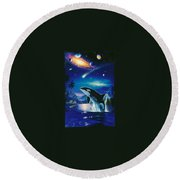 Silent Journey Christian Riese Lassen Round Beach Towel