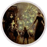 Silent Night Round Beach Towel by Viggo Johansen