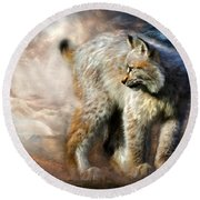 Silent Spirit Round Beach Towel