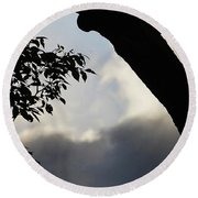Silhouette Against The Sky Round Beach Towel