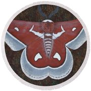 Silk Moth Round Beach Towel