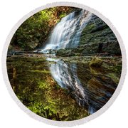 Silky Reflections Round Beach Towel