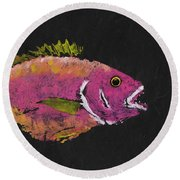 Silky Snapper Round Beach Towel