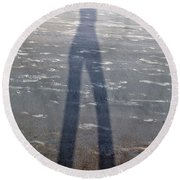 Silly Silhouette  Round Beach Towel