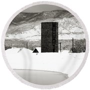 Silo And Silence Round Beach Towel