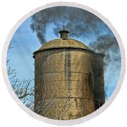 Silo Fire Venting Round Beach Towel