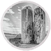 Silos Round Beach Towel