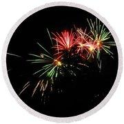 Silute 500. Lithuania. Fireworks 01 Round Beach Towel
