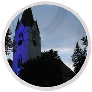Silute Lutheran Evangelic Church Lithuania 01 Round Beach Towel