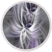 Silver Abstract Ascension. Mystery Of Colors Round Beach Towel