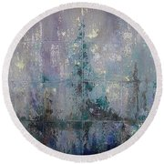 Silver And Silent Round Beach Towel