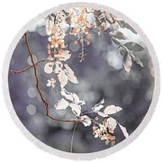 Silver Beauty.  Nature In Alien Skin Round Beach Towel