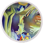 Silver Bride, 120-80cm, 2016, Oil On Canvas Round Beach Towel