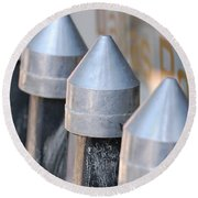 Silver Bullets Round Beach Towel