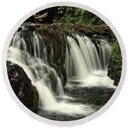Silver Falls State Park Round Beach Towel