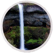 Silver Falls State Park Oregon 4 Round Beach Towel